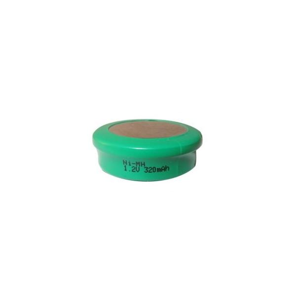 NiMH 320 mAh knapcelle batteri - 1,2V - Evergreen