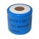 NiCD 1/2 C 800 mAh batteri uden knup - 1,2V - Evergreen