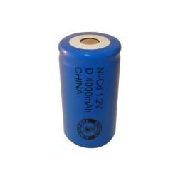NiCD D 4000 mAh batteri uden knup - 1,2V - Evergreen