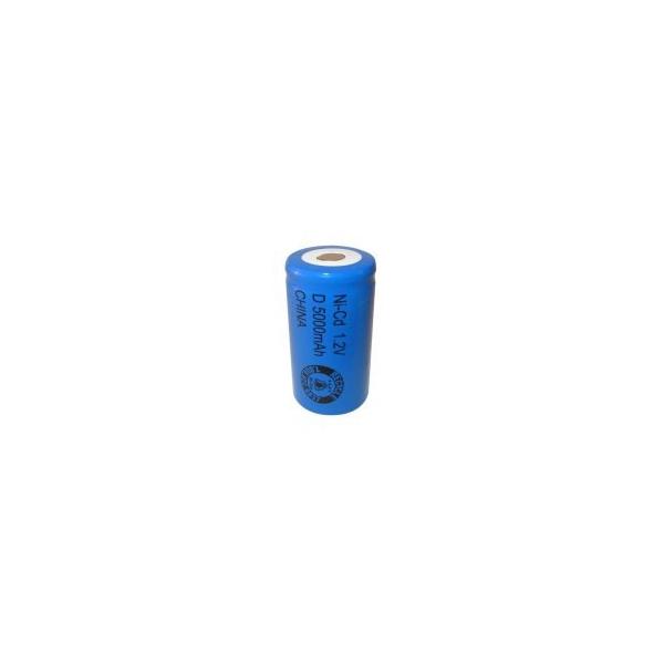 NiCD D 5000 mAh batteri uden knup - 1,2V - Evergreen