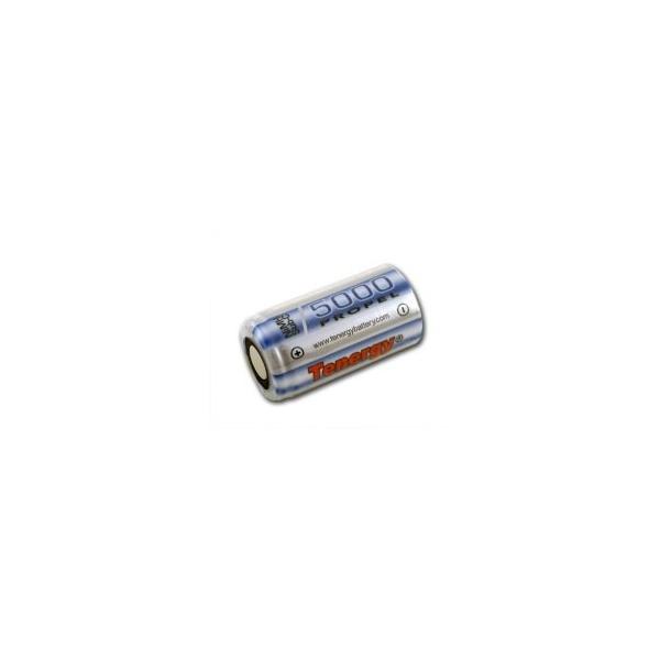 NiMH Sub C 5000 mAh batteri flat hoved - 1,2V - Tenergy