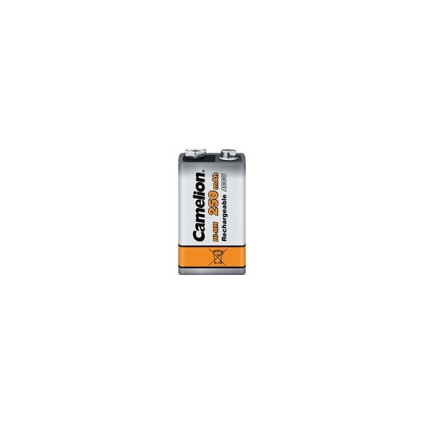 NiMH 250 mAh batteri - 9V