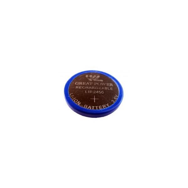 Li-Ion LIR 2450 genopladelig knapcelle batteri - 3,6V