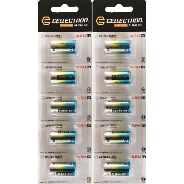10 x 4LR44 / A544 / PX28 / 476A Alkaline batteri - 6V Cellectron