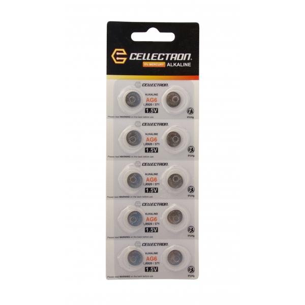 AG6 10 alkaline knapcelle batteri AG6 / LR920 / 371 1,5V Cellectron
