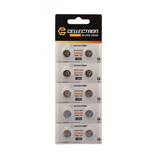 SR920 10 knapcelle batteri sølv oxide SR920/SR69 / 370 1,55V Cellectron