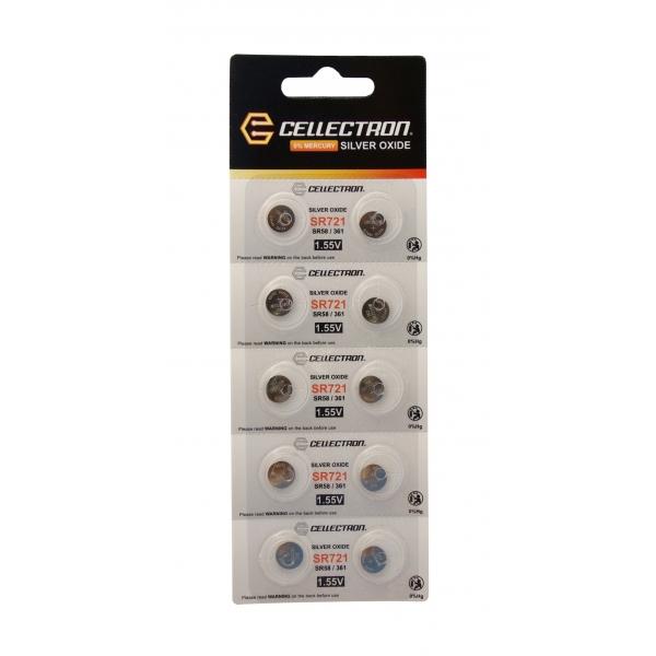 SR721 10 knapcelle batteri sølv oxide SR721/ SR58/ 361 1,55V Cellectron