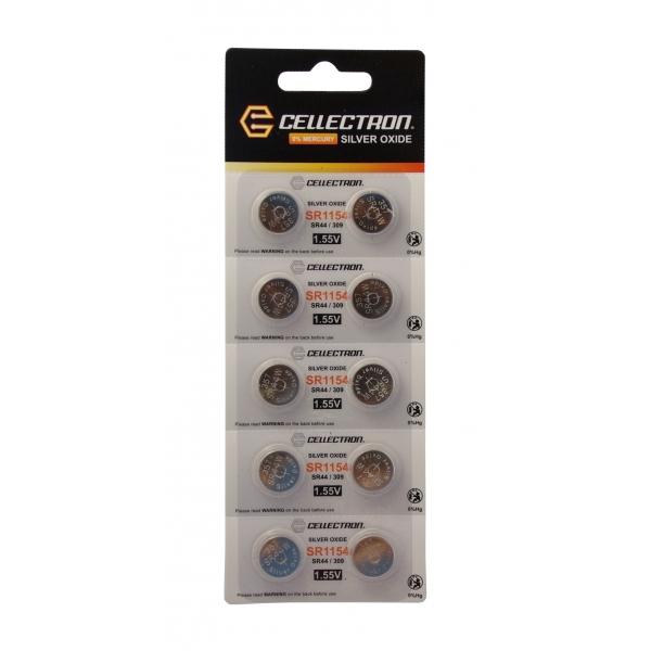 SR1154 10 knapcelle batteri sølv oxide SR1154 / SR44/357 1,55V Cellectron