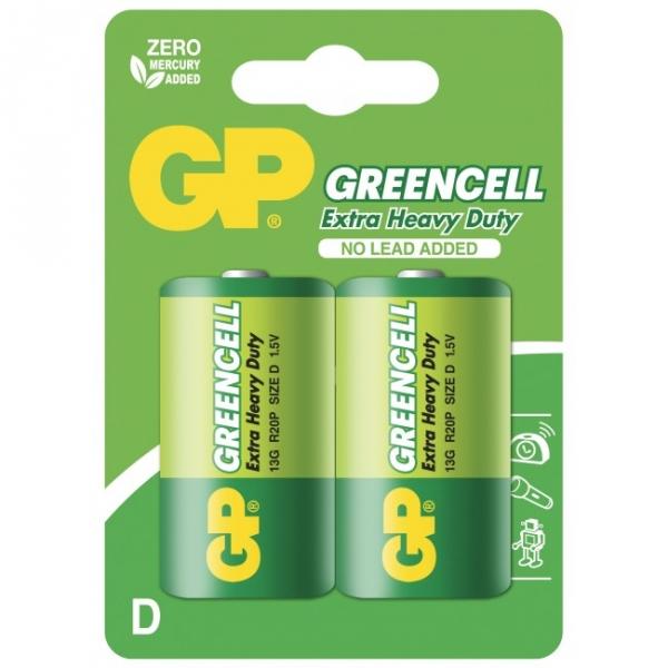 2 X D / R20 Brunstensbatteri - 1,5V GP Battery