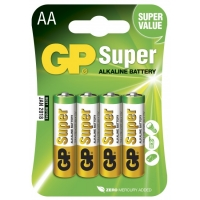 4 x LR6 / AA Alkaline batteri - 1,5V - GP Battery