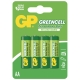 4 X AA / R6 Brunstensbatteri - 1,5V GREENCELL
