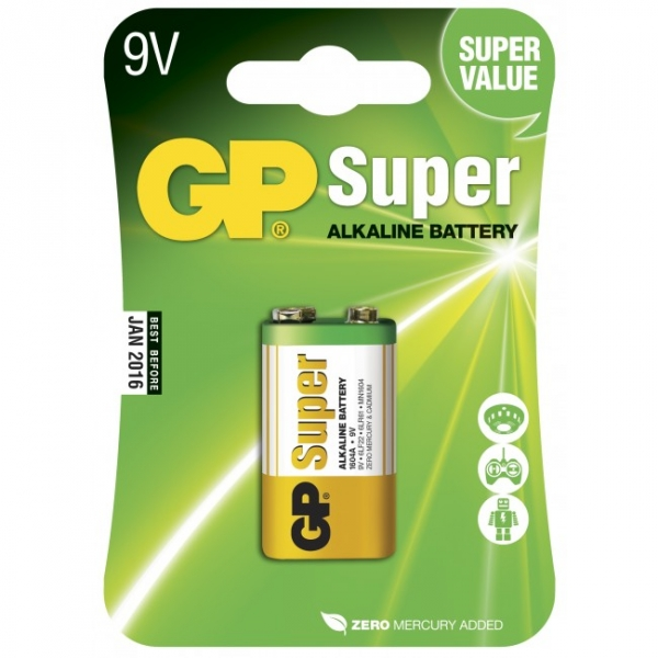 9V / 6LR61 Alkaline batteri - GP Battery