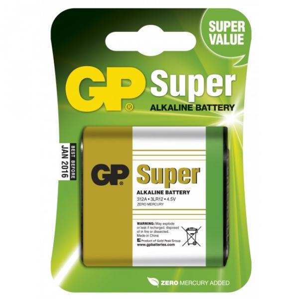 1 x 3LR12 SUPER Alkaline batteri - 4,5V - GP Battery
