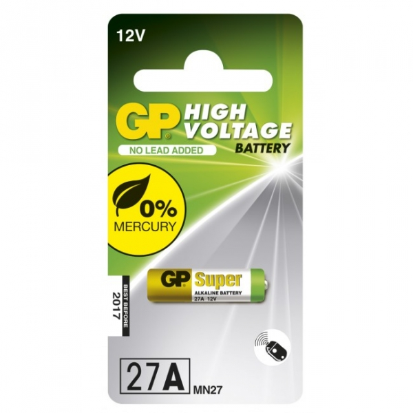 1 x 27A / MN27 - Alkaline batteri - 12V - GP Battery