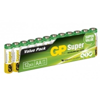 12 x AA / LR6 SUPER - Alkaline batteri - 1,5V - GP Battery