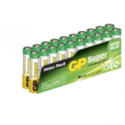 20 x AAA / LR03 SUPER - Alkaline batteri - 1,5V - GP Battery