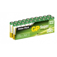 20 x AA / LR6 SUPER - Alkaline batteri - 1,5V - GP Battery