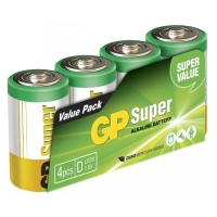 4 x D / LR20 SUPER - Alkaline batteri - 1,5V - GP Battery