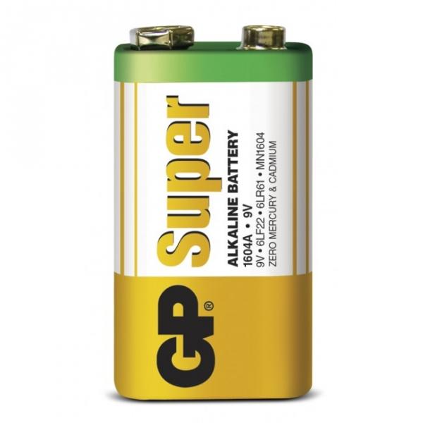 1 x 9V / 6LF22 SUPER - Alkaline batteri - 9V - GP Battery