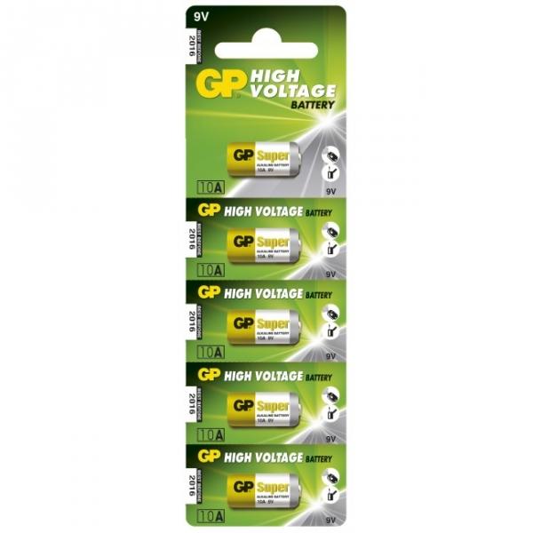 5 x 10A / L1022 Alkaline cylindrisk batteri - 9V - GP Battery