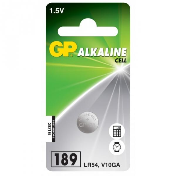 1 x GP 189 / LR54 / V10GA Alkaline knapcelle batteri - 1,5V - GP Battery