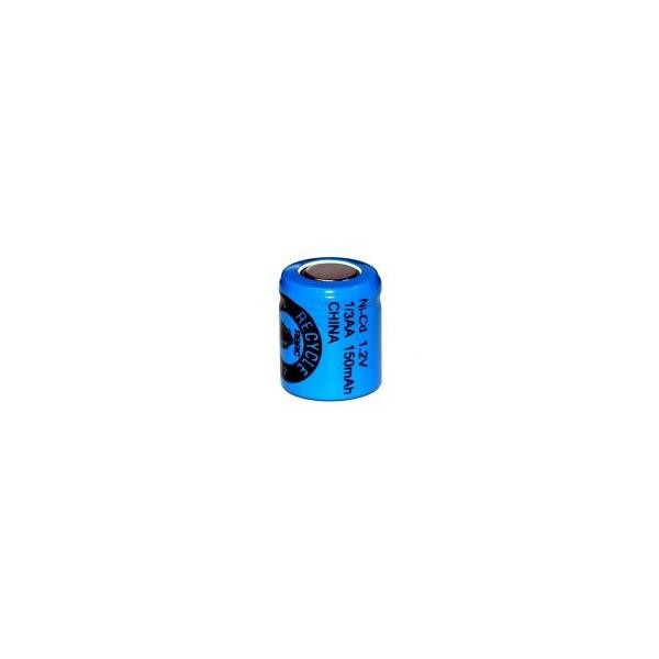 NiCD 1/3 AA 150 mAh batteri unden knup - 1,2V - Evergreen