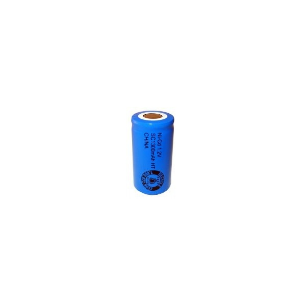 NiCD Sub C 1300 mAh batteri uden knup - 1,2V - Evergreen
