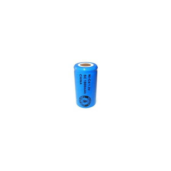 NiCD Sub C 1800 mAh batteri uden knup - 1,2V - Evergreen