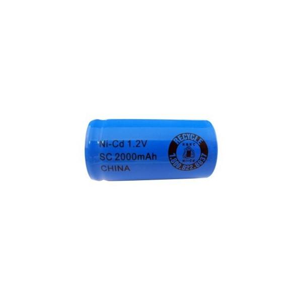 NiCD Sub C 2000 mAh batteri uden knup - 1,2V - Evergreen