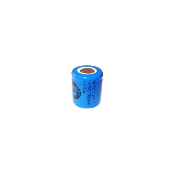 NiCD 1/2 Sub C 700 mAh batteri uden knup - 1,2V - Evergreen