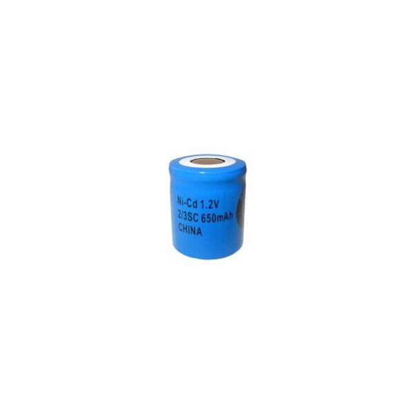 NiCD 2/3 Sub C 650 mAh batteri uden knup - 1,2V - Evergreen
