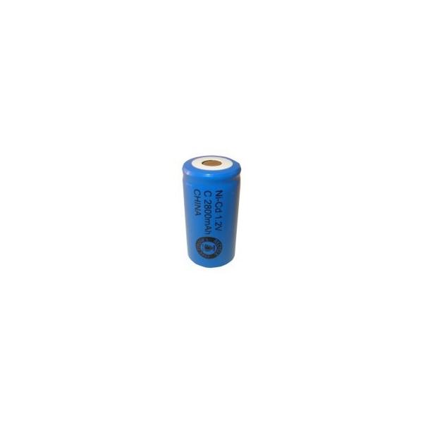 NiCD C 2800 mAh batteri uden knup - 1,2V - Evergreen