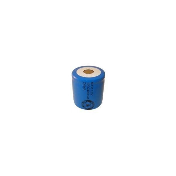NiCD 1/2 D 2400 mAh batteri uden knup - 1,2V - Evergreen