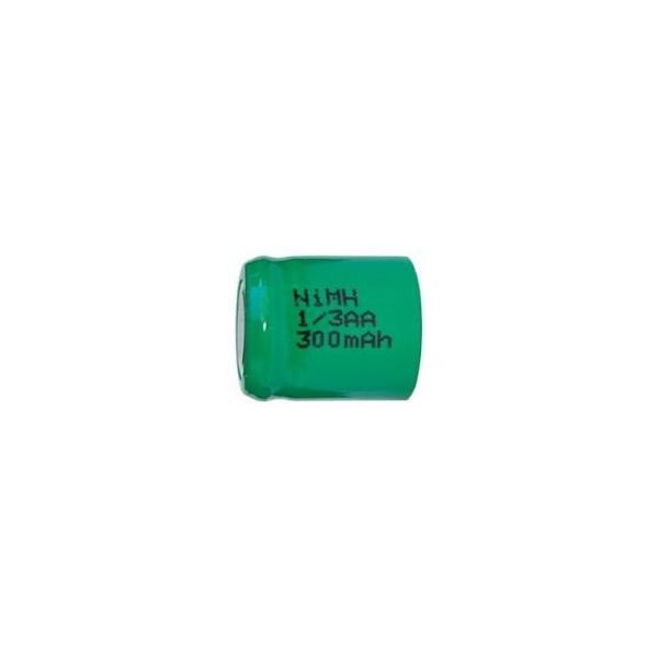 NiMH 1/3 AA 300 mAh batteri uden knup - 1,2V - Evergreen