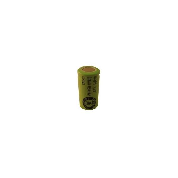 NiMH 2/3 AA 650 mAh batteri uden knup - 1,2V - Evergreen