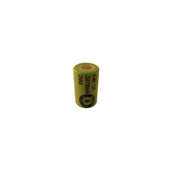 NiMH 2/3 A 1100 mAh batteri uden knup - 1,2V - Evergreen