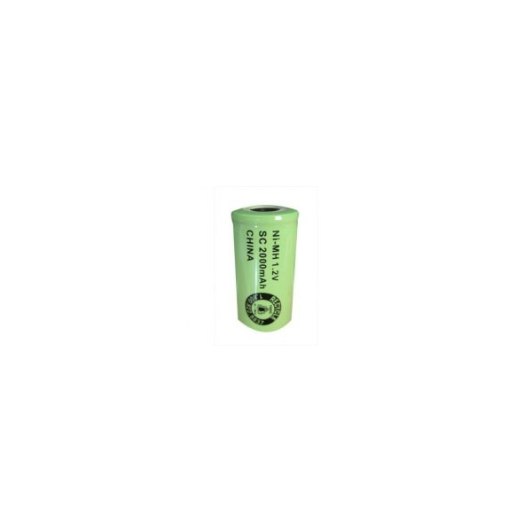 NiMH Sub C 2000 mAh batteri uden knup - 1,2V - Evergreen
