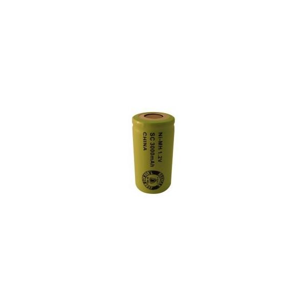 NiMH Sub C 3000 mAh batteri uden knup - 1,2V - Evergreen